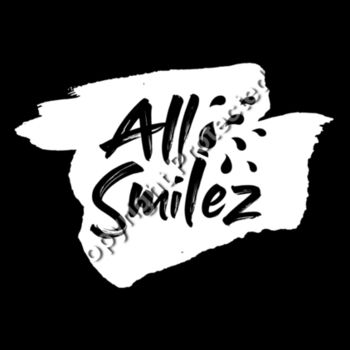 Kids All Smilez Black Hoodie- front and back print Design