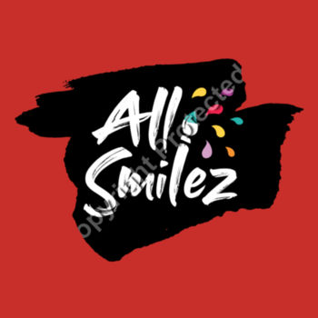 All Smilez logo on coloured T - Kids Youth T shirt Design